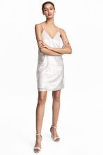 Sequined dress - White - Ladies | H&M 1