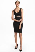 Fitted dress - Black - Ladies | H&M 1