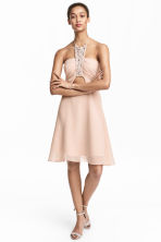 Short halterneck dress - Powder pink - Ladies | H&M 1