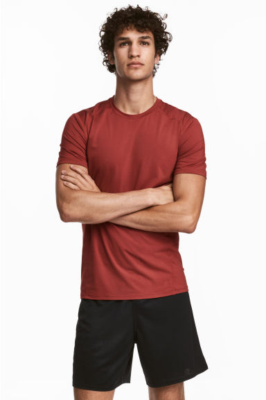 Sports top - Rust red - Men | H&M