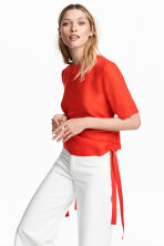 Blouse with drawstrings - Red - Ladies | H&M CN 1