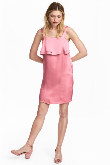 Satin dress - Pink - Ladies | H&M