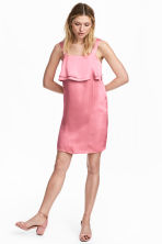 Satin dress - Pink - Ladies | H&M 1