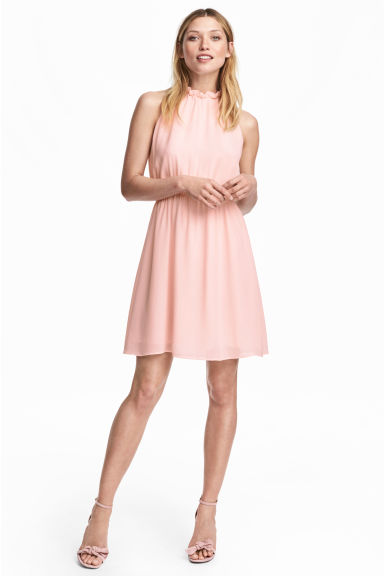 Chiffon dress - Light pink -  | H&M CN