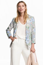 Shawl-collar jacket - White/Floral - Ladies | H&M GB 1