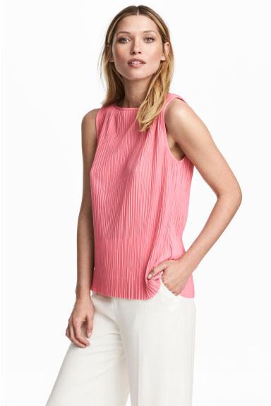 Pleated top - Pink - Ladies | H&M IE 1