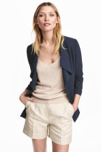 Fitted jacket - Dark blue - Ladies | H&M CN 1