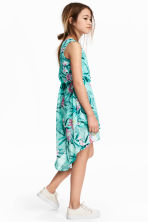Asymmetric dress - Mint green/Patterned -  | H&M CA 1