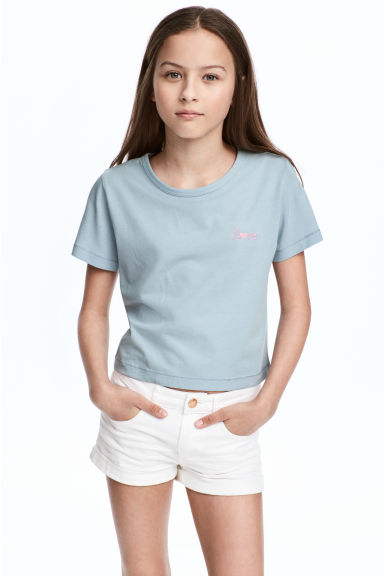 Jersey top - Light petrol - Kids | H&M 1