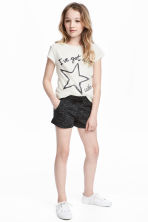 Short jersey shorts - Black - Kids | H&M 1