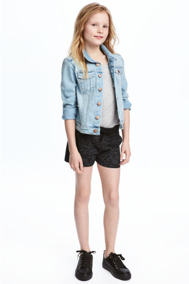 Short jersey shorts - Black marl - Kids | H&M 1
