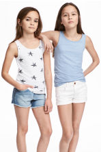 2-pack jersey vest tops - White/Stars - Kids | H&M 1