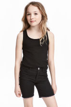 Jersey vest top - Black -  | H&M 1