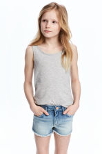 Jersey vest top - Grey marl -  | H&M 1