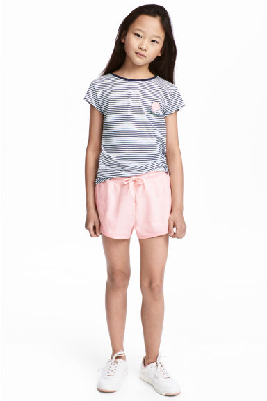 Sweatshirt shorts - Light pink - Kids | H&M