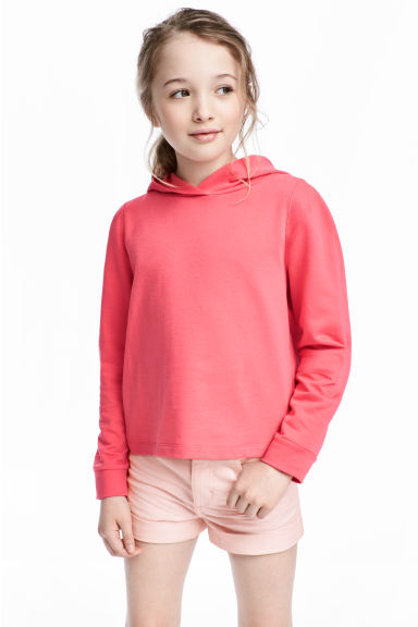 Hooded top - Coral pink - Kids | H&M 1