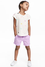Cotton shorts - Purple - Kids | H&M 1