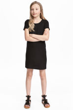 T-shirt dress - Black - Kids | H&M 1