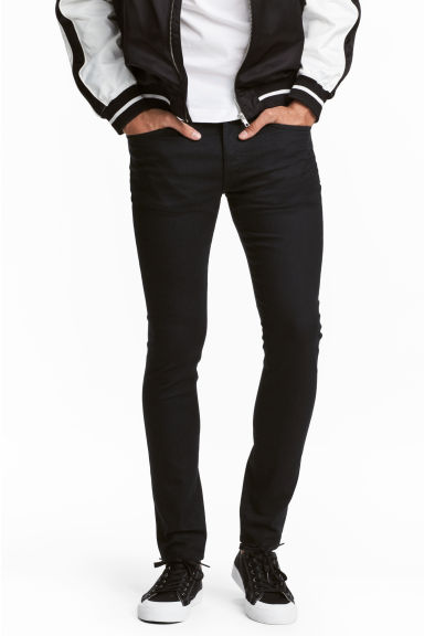 Skinny Low Jeans - Black denim - Men | H&M CN 1