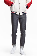 Relaxed Skinny Jeans - Dark denim blue/Raw - Men | H&M CN 1