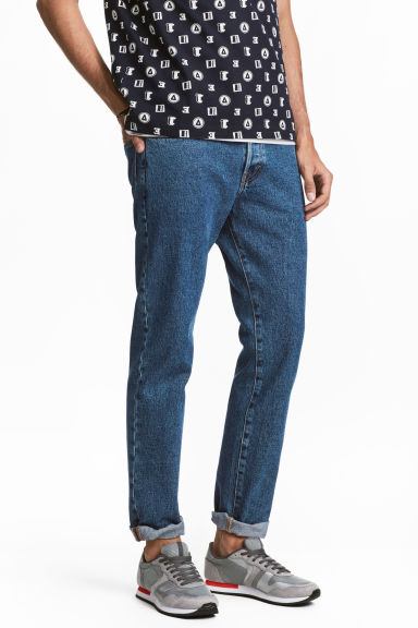 Straight Regular Jeans - Denimblå - Men | H&M FI 1