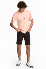 Denim shorts - Black denim - Men | H&M CN 1