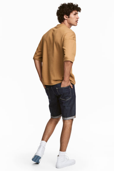 Denim shorts - Dark denim blue - Men | H&M 1