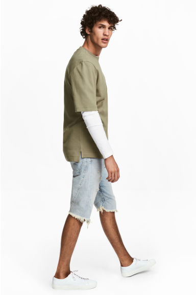 Denim shorts - Super light denim - Men | H&M 1