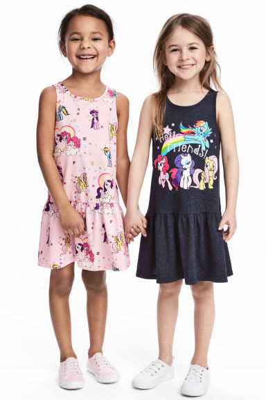 2-pack jersey dresses - Light pink/My Little Pony -  | H&M 1