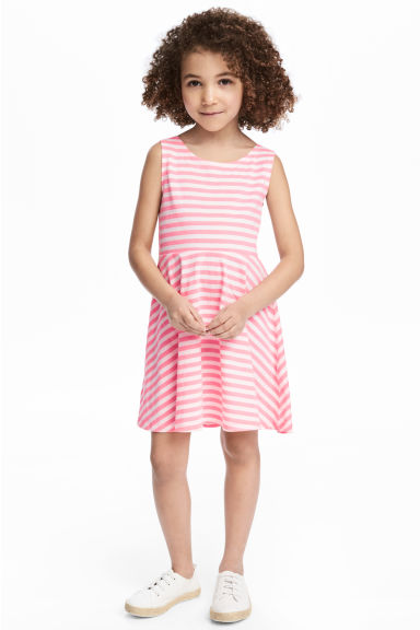 Jersey dress - Pink/Striped -  | H&M