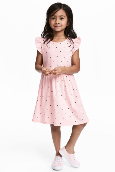 Jersey dress - Light pink/Heart - Kids | H&M 1