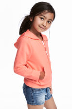 Hooded jacket - Coral pink - Kids | H&M CN 1