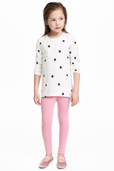 Jersey leggings - Pink -  | H&M