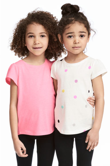 2-pack jersey tops - White - Kids | H&M CA 1