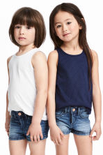 2-pack sleeveless tops - Dark blue/Spotted - Kids | H&M CN 1