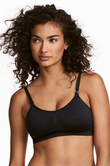 MAMA 2-pack soft nursing bras - Black - Ladies | H&M 1