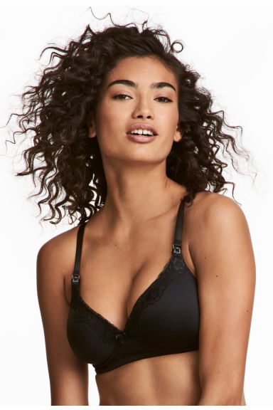 MAMA Padded nursing bra - Black - Ladies | H&M CN 1