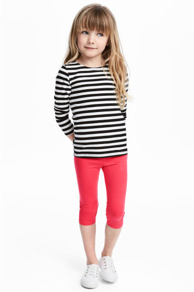 3/4-length leggings - Raspberry pink - Kids | H&M 1
