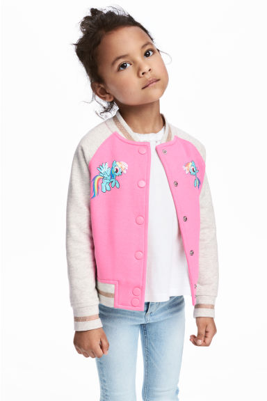Baseball jacket - Pink/My Little Pony - Kids | H&M 1