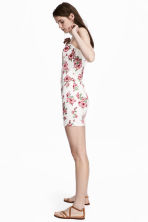 Short dress - White/Floral - Ladies | H&M 1