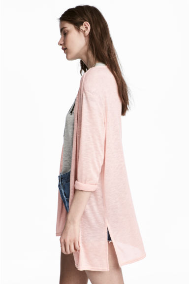 Fine-knit cardigan - Powder pink -  | H&M 1