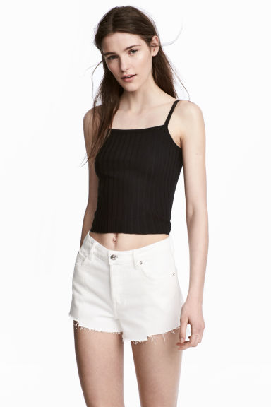 Canotta a coste - Nero - DONNA | H&M IT 1