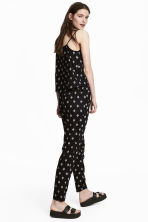 Pull-on trousers - Black/Patterned - Ladies | H&M CN 1