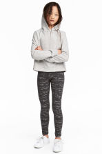 Jersey leggings - Dark grey/Glittery - Kids | H&M 1