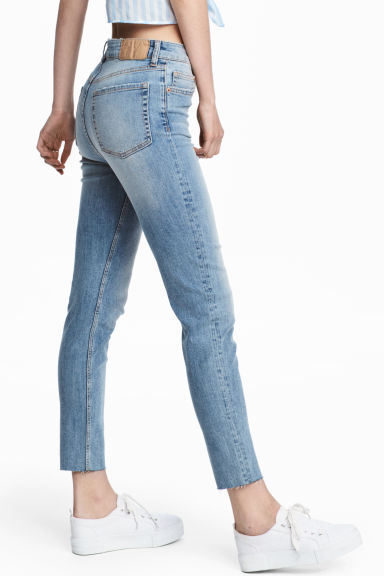 Vintage High Ankle Jeans - 浅牛仔蓝 - 女士 | H&M CN 1
