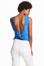 Knot-detail vest top - Blue - Ladies | H&M GB 1