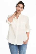 H&M+ Cotton blouse - Natural white/Gold - Ladies | H&M 1