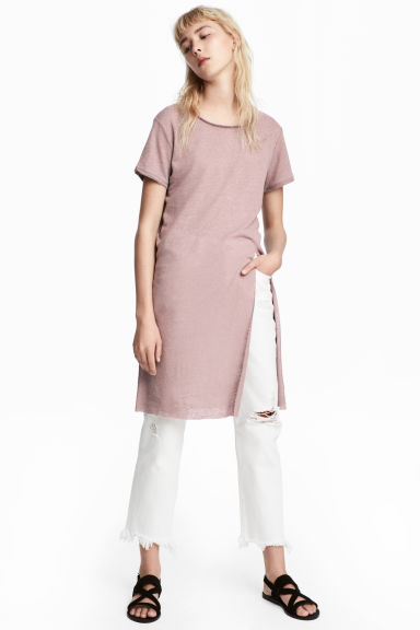 Long T-shirt - Dusky pink - Ladies | H&M 1