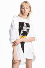 Oversized shirt - White - Ladies | H&M CN 1