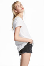 V-neck jersey top - White - Ladies | H&M 1